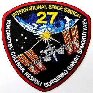 International Space Station Expedition 27 Embroidered Patch